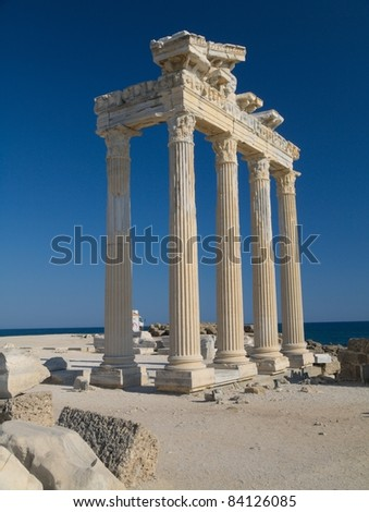 The Temple of Apollo in Side. - stock photo