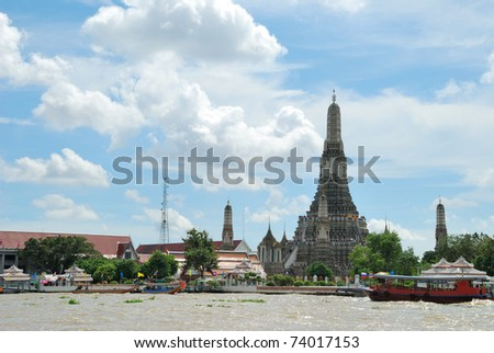 The Temple of Dawn, Wat Arun in Bangkok, Thailand - stock photo