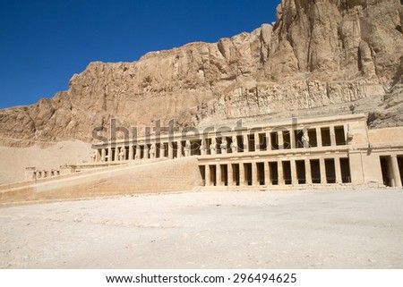 The temple of Hatshepsut near Luxor in Egypt - stock photo