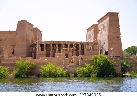The temple of Isis from Philae on Agilkia Island, Aswan, Egypt