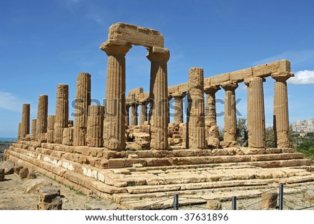 The temple of Juno in Sicily
