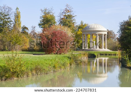 The Temple of Love in the gardens of Trianon, Versailles,  France