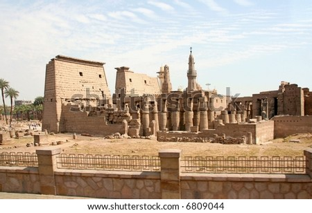The temple of Luxor, Egypt - stock photo