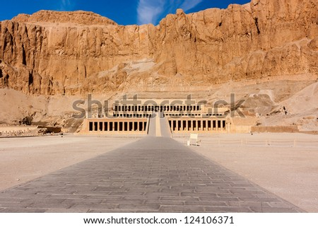 The temple of Queen Hatshepsut in Luxor, Egypt - stock photo