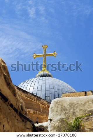 The temple of the Saint Sepulter, Jerusalem - stock photo