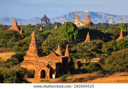 The  Temples of Bagan, Mandalay, Myanmar - stock photo