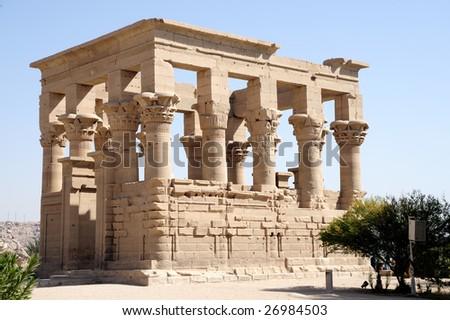The Temples of Philae on Agilika Island (Egypt) - stock photo