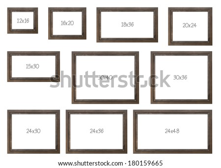 the ten most popular selling frames dimensions of a brown modern frame