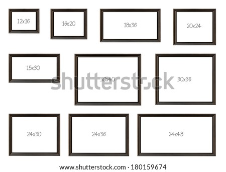 Ten Most Popular Selling Frames Dimensions Stock Photo (Royalty Free ...