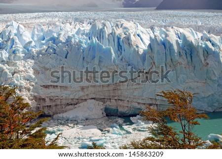 The Terminus of Perito Moreno Glacier, Argentina - stock photo