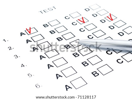 The test list and pen on the examination - stock photo