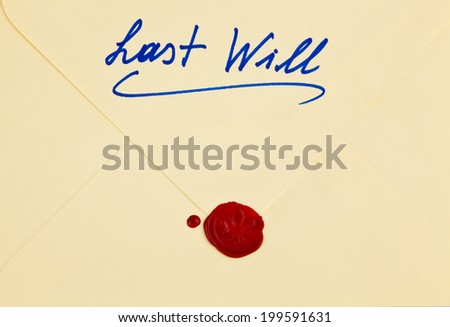 the testament of a deceased person in english. last will and inheritance - stock photo