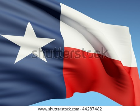 The Texas flag - stock photo