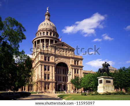 The Texas State Capitol Building in Austin, Texas. - stock photo