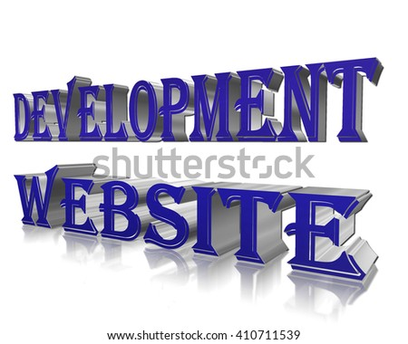 The text of the development of web sites on a white background