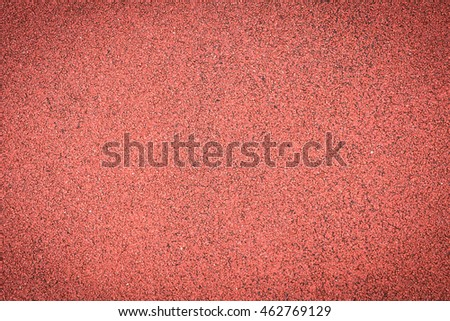 The Texture of a rubber crumb (rubber asphalt) is used in stadiums for running track