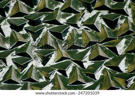 The texture of a stained glass window. - stock photo