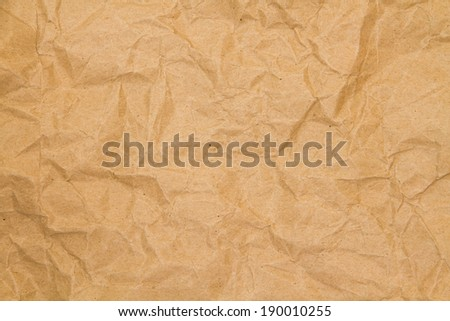 The texture of brown crumpled paper - stock photo
