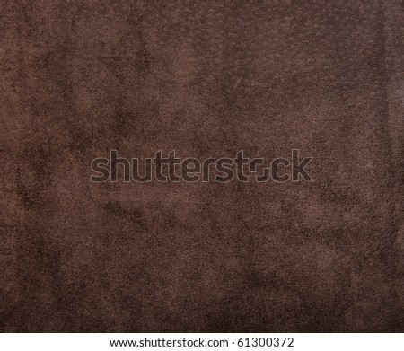 The texture of brown suede. - stock photo