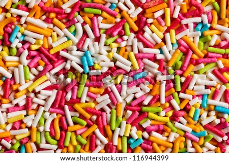 the texture of candy sprinkles - stock photo
