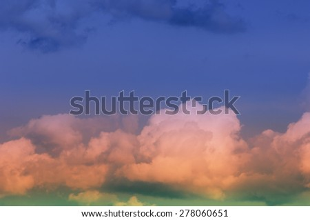 The texture of clouds. Dramatic cotton candy sky cloud texture background. Abstract sky texture and clouds background.  - stock photo