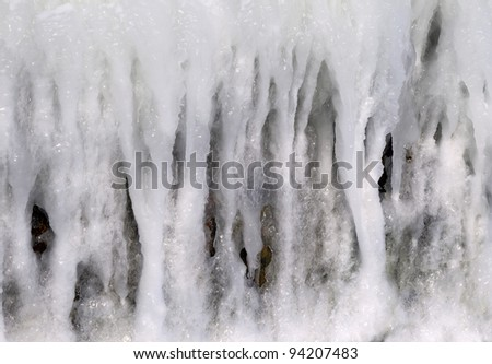 The texture of icicles on the Black Sea coast