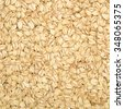 The texture of oatmeal. - stock photo