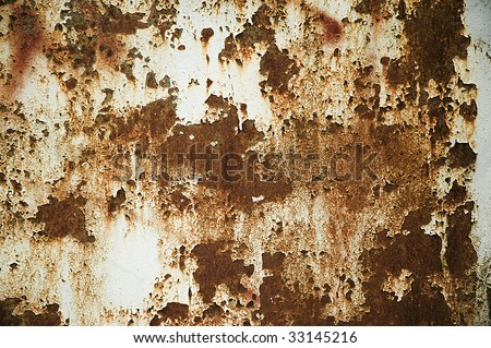 the texture of old rust metal wall - stock photo