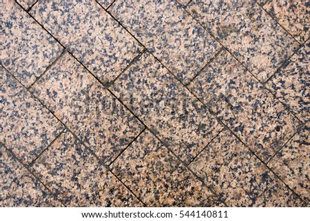 The texture of paving stone masonry, close up