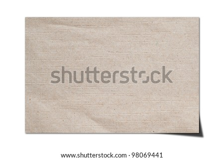 The texture of recycled paper for background