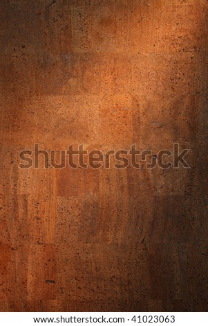 the texture of the Cork board