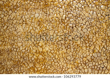 the texture of the eggshell - stock photo