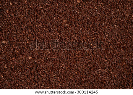 The texture of the ground coffee . - stock photo