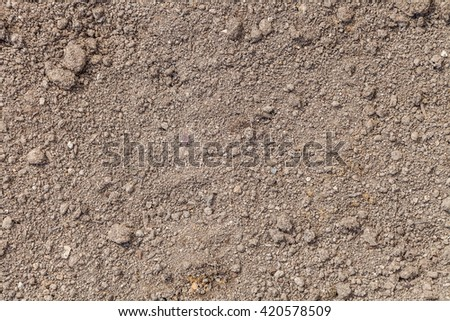 The texture of the ground. The structure of the soil close-up. Dig the earth for planting - stock photo