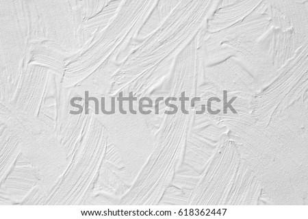 The Texture Of Paint Is White Wall Background With Plaster And Stains A