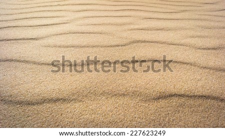 The texture of the real sand waves - stock photo