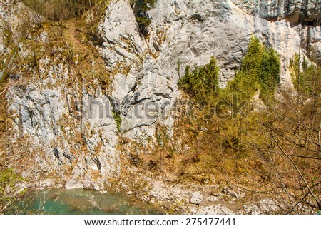 the texture of the rock in Montenegro