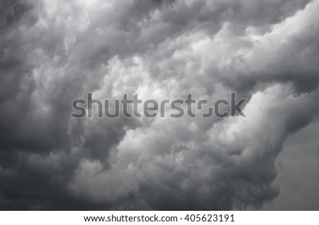 the texture of the stormy sky, storm, clouds, Prairie Storm, the storm is coming, approaching storm, thunderstorm, tornado, mesocyclone, climate - stock photo
