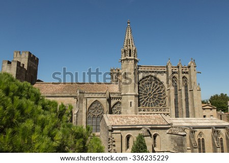 the 12th century basilica of Saint Nazaire in the medieval citadel of Carassonne, France