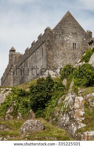the 12th century medieval Celtic Rock of Cashel, Ireland - stock photo