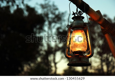 the thailand lantern for light - stock photo