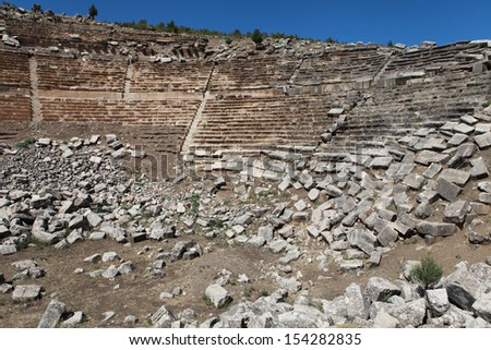 The Theater of Kibyra in Golhisar, Burdur.