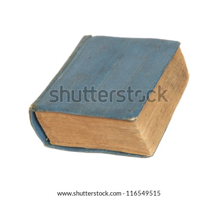 The thick book isolated on a white background.