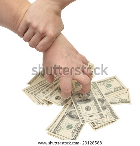 The thief caught for a hand - stock photo