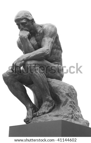 The Thinker Statue by the French Sculptor Rodin - stock photo