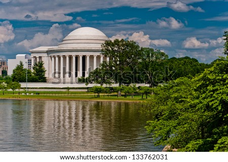 The Thomas Jefferson Memorial, in the National Mall, Washington, DC.