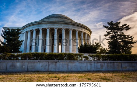 The Thomas Jefferson Memorial, in Washington, DC.