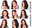 The thousand faces of the actor - stock photo