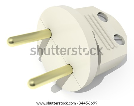 The three-dimensional image of a plug for household devices.