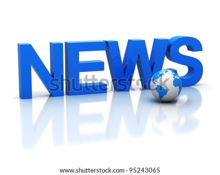 "The three-dimensional word ""news"" - stock photo"